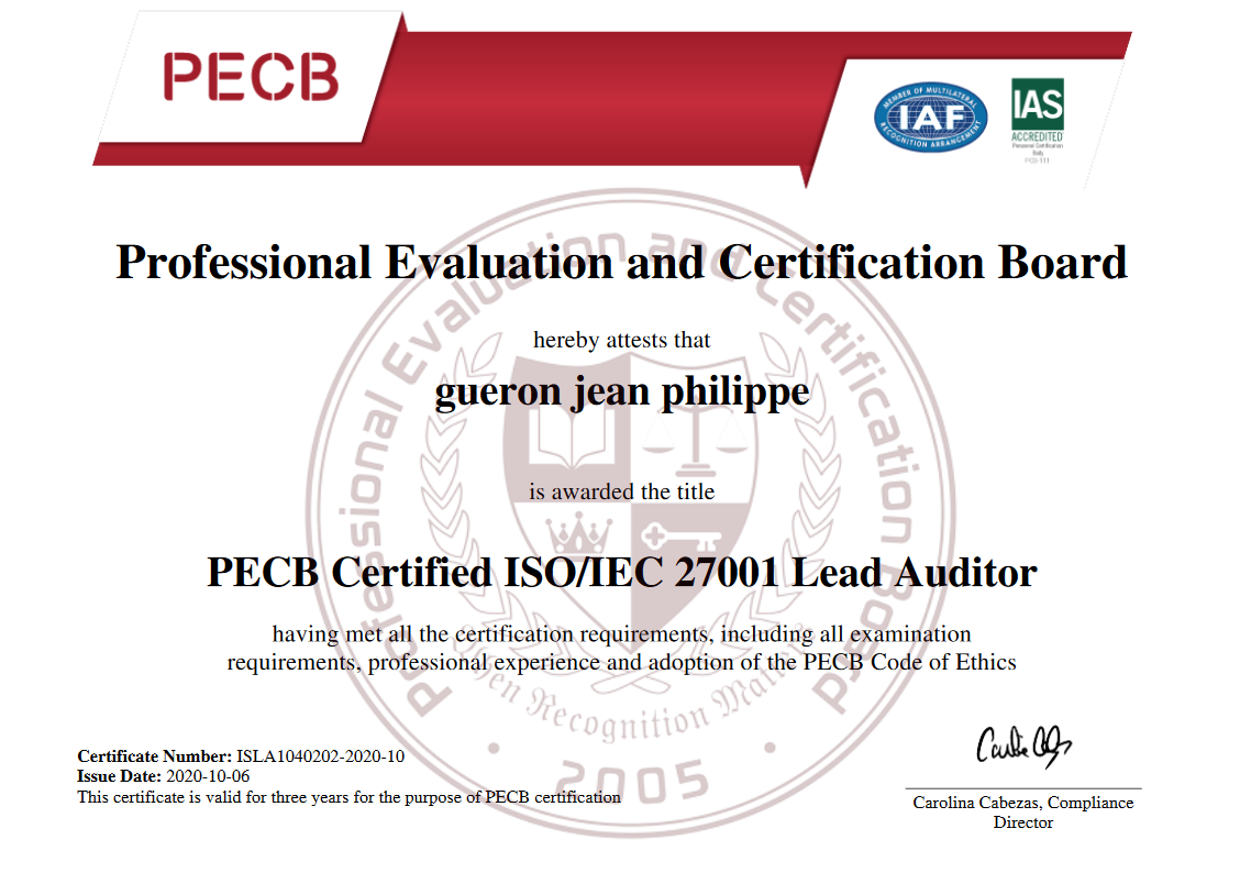 certification lead auditor